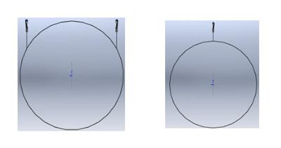 (left) Bi-cable (right) Mono-cable