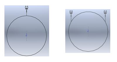 (left) Mono Twist'n'Fix aluminium rail (right) Bi Twist'n'Fix aluminium rail